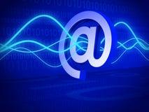 Filtro da email e concetto di tecnologia Immagini Stock Libere da Diritti