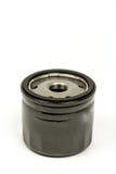 Filtro de óleo preto do carro de metal isolado sobre o fundo branco Imagem de Stock Royalty Free