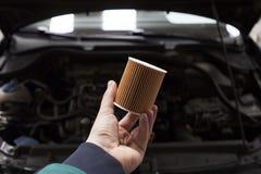 Filtro de aceite del coche foto de archivo libre de regalías
