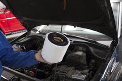 Filtro de aire del coche Imagenes de archivo