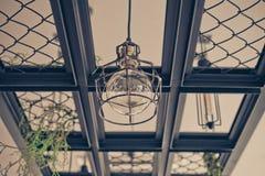 Filtro de la oscuridad de la lámpara del vintage Imagen de archivo libre de regalías