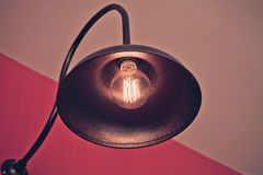 Filtro de la oscuridad de la lámpara del vintage Fotos de archivo libres de regalías