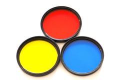 Filtro de três circulares em um fundo branco Imagem de Stock Royalty Free