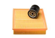 Filtro del aire y de aceite Fotos de archivo