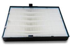 Filtro dell'aria di alta efficienza per il sistema di HVAC Su bianco Fotografie Stock