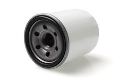 Filtro dell'olio automobilistico fotografia stock