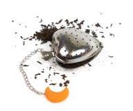 Filtro do chá no branco Fotos de Stock Royalty Free
