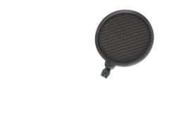 Filtro do POP para o condensador e o mic dinâmico no estúdio imagens de stock