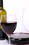 Filtro, garrafa e vidro do close-up do vinho Imagem de Stock