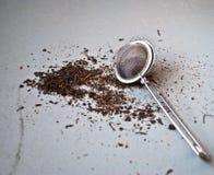 Filtro metallico del tè Fotografie Stock