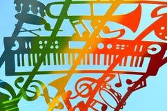 Filtro musicale dal cielo Immagini Stock