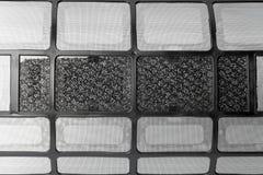 filtro negro de la condición del aire fotografía de archivo
