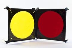 Filtros amarelos e vermelhos foto de stock royalty free