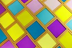 Filtros amarelos magentas cianos de vidro velhos do foto a cores da densidade diferente Fotos de Stock Royalty Free