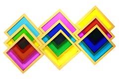 Filtros amarillos magentas ciánicos de cristal viejos de la foto de color de diversa densidad Fotos de archivo libres de regalías
