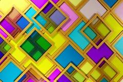 Filtros amarillos magentas ciánicos de cristal viejos de la foto de color de diversa densidad Fotos de archivo