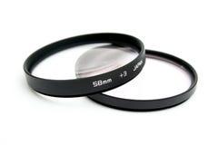 Filtros da lente Fotografia de Stock