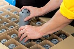 Filtros de água da embalagem Fotografia de Stock Royalty Free