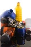 Filtros de aceite Fotos de archivo libres de regalías