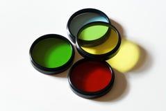 Filtros de color ópticos Imagen de archivo libre de regalías