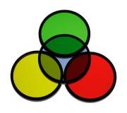 Filtros de color ópticos imagen de archivo
