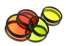 Filtros de cor para lentes Imagem de Stock
