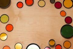 Filtros de la foto coloreada en de madera Imagenes de archivo