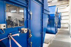 Filtros de tambor industriales para el material de desecho de proceso Foto de archivo libre de regalías