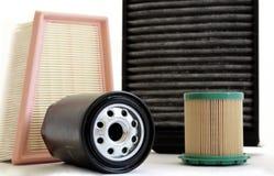 Filtros del coche Fotos de archivo libres de regalías
