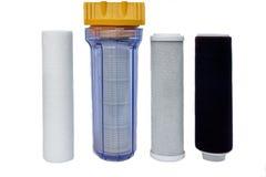 Filtros para la purificación del agua potable foto de archivo