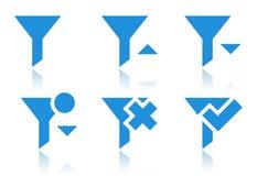 Filtrowe ikony Obraz Stock