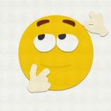 Filz Emoticon-Denken Lizenzfreies Stockfoto