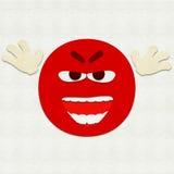 Filz Emoticon, der jemand erschrickt Stockbilder