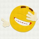 Filz Emoticon-Lachen Lizenzfreie Stockfotografie