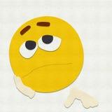 Filz Emoticon traurig Lizenzfreies Stockbild