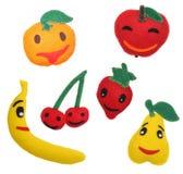 Filz spielt Früchte Stockbilder