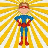 Filz-Superheld-Energie-Haltung Lizenzfreie Stockfotografie