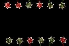 Filz-Weihnachtsschneeflocken Lizenzfreies Stockfoto
