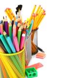 Filzstifte und Bleistifte Stockfoto
