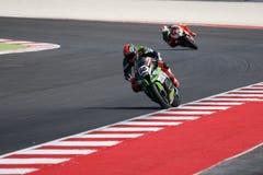 """FIM超级摩托车世界冠军†""""种族1 免版税库存照片"""