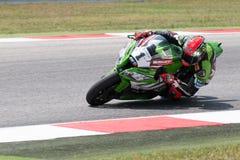 FIM超级摩托车世界冠军-自由实践第4个会议 库存照片