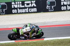 FIM超级摩托车世界冠军-自由实践第4个会议 免版税图库摄影