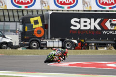 FIM超级摩托车世界冠军-自由实践第4个会议 免版税库存照片