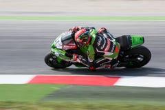 FIM超级摩托车世界冠军-自由实践3th会议 免版税库存照片