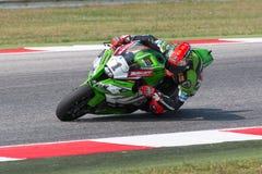 FIM超级摩托车世界冠军-自由实践3th会议 免版税库存图片