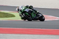 FIM超级摩托车世界冠军-自由实践3th会议 库存图片