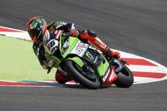 FIM超级摩托车世界冠军- Superpole (2)会议 免版税库存图片