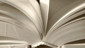 Fim aberto do fundo das folhas do livro acima Foto de Stock
