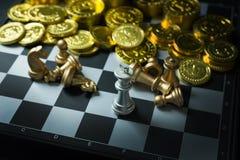 Fim abstrato da placa do jogo de xadrez acima da imagem Fotografia de Stock Royalty Free