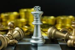 Fim abstrato da placa do jogo de xadrez acima da imagem Fotos de Stock